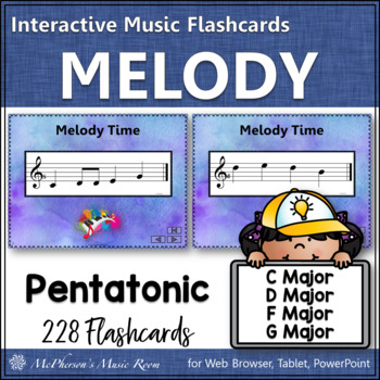 Melody Interactive Flash Cards {Do Re Mi Sol La}