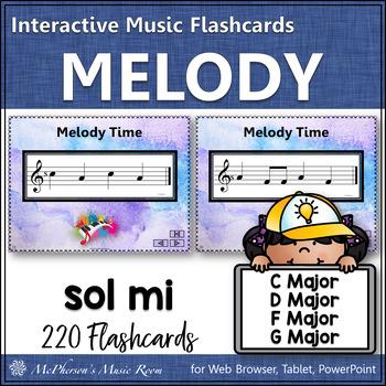 Melody Interactive Flash Cards {Sol Mi}