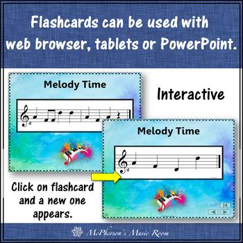 Melody Interactive Flash Cards {high Do}