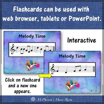 Melody Interactive Flash Cards {low La}