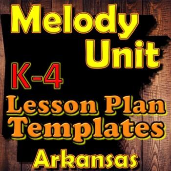 Melody Lesson Plan Template Bundle - Arkansas Elementary Music