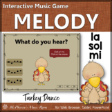 Thanksgiving Music Game Sol Mi La {Interactive Melody Game} Turkey Dance