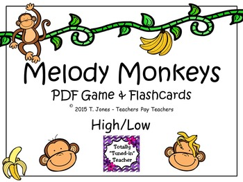 Melody Monkeys: Melody Concept Music Game {High/Low Set}