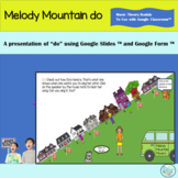"""Melody Mountain """"Do"""" Solfege Activity for Google Classroom"""