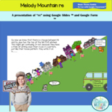 """Melody Mountain """"Re"""" to Use with Google Classroom for Dist"""