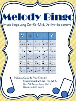 Melody Music Bingo