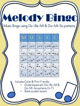 Melody Music Bingo