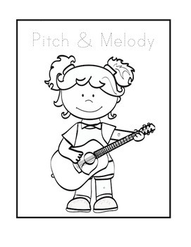 Pitch & Melody - Music Interactive Notebook - Grade 1