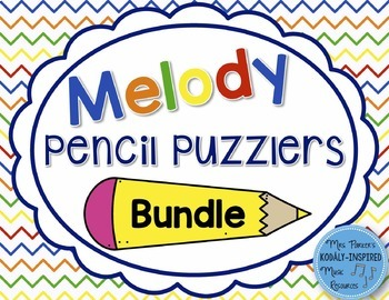 Melody Pencil Puzzlers {6-Game Bundle}