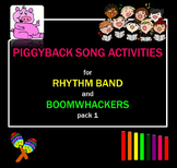 Melody: Piggyback Song Activities for Rhythm Band & Boomwhackers Pack 1 Pre-K-1