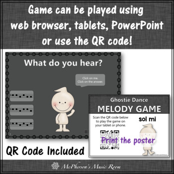 Fall Music Game ~ Sol Mi Interactive Melody Game {Ghostie}