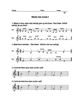 Melody Test grade 2