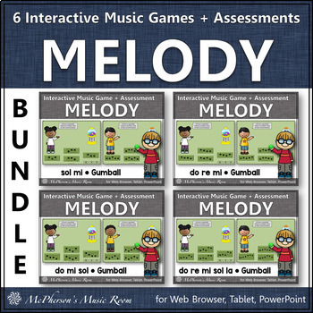 Melody Time Bundle Interactive Music Games + Assessments (gumball)