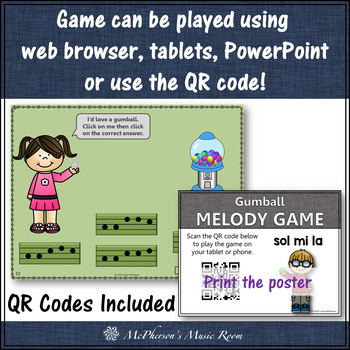 Music Games: Interactive Melody Games + Assessments Bundle {gumball}