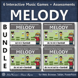 Solfege   Interactive Melody Games + Assessments {Gumball Bundle}