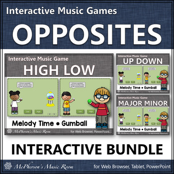 Melody Music Opposites ~ Interactive Music Games Bundle {gumball}