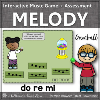 Music Game: Do Re Mi Interactive Melody Game + Assessment {gumball}
