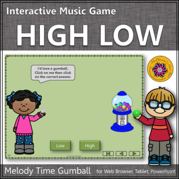 Melody Time with High and Low Interactive Music Game (gumball)