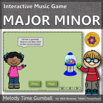 Melody Time with Major and Minor Interactive Music Game (gumball)