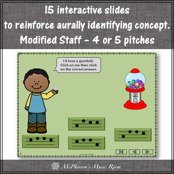 Melody Time with Mi Sol La Interactive Music Game + Assessment (gumball)