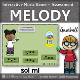 Solfege   Sol Mi Interactive Melody Game + Assessment {Gumball}