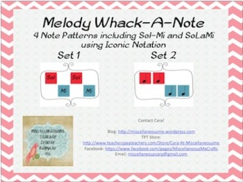 Melody Whack-A-Note: Sol-Mi and SoLaMi Using Iconic Notation