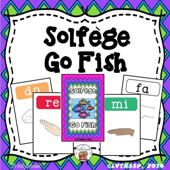 Melody (Solfege) Go Fish (includes multiple skin tones)