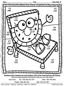 addition with regrouping coloring pages - photo#14