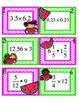 Melon Math Task Cards - Multiplication of decimals/fractio