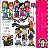 120 days of school clip art - COMBO PACK - by Melonheadz