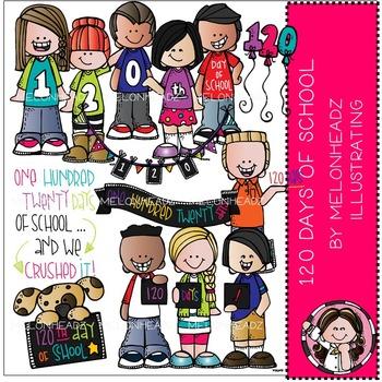 Melonheadz: 120 days of school clip art - COMBO PACK