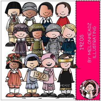 1920 clip art - Kidlettes - COMBO PACK - by Melonheadz