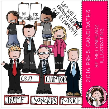 Presidential Candidates clip art - 2016 - COMBO PACK - by Melonheadz