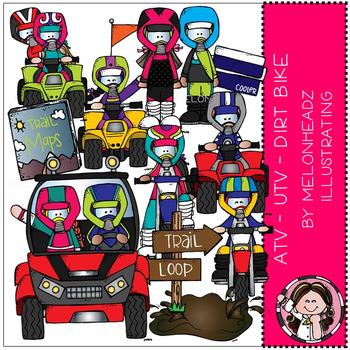 Melonheadz: ATV - UTV - Dirt Bike clip art - COMBO PACK