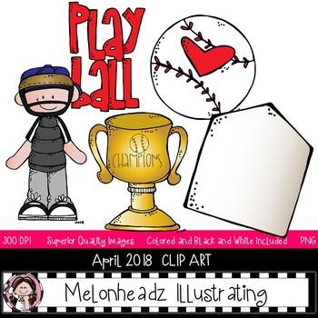 April melonheadz. Addict clip art set