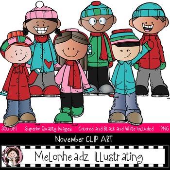 November colorful. Melonheadz addict clip art