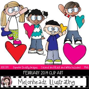 Melonheadz Addicts clip  art - February 2019 set - Mini - Melonheadz Clipart