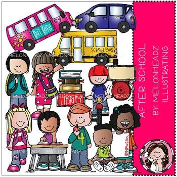 Melonheadz: After School clip art - Combo Pack