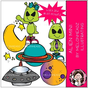 Alien clip art - Mini - by Melonheadz