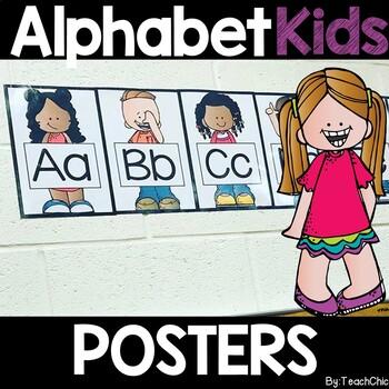 Cute Students Alphabet Display