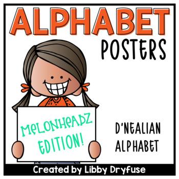Melonheadz Alphabet Posters - D'Nealian