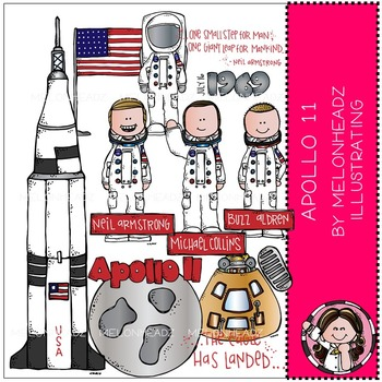 Apollo 11 clip art - COMBO PACK - by Melonheadz