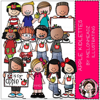 Apple Kidlettes clip art - Combo Pack - by Melonheadz