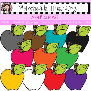 Melonheadz: Apple clip art - Single Image