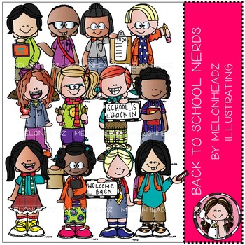 Back to School clip art - Nerds - Combo Pack - by Melonheadz