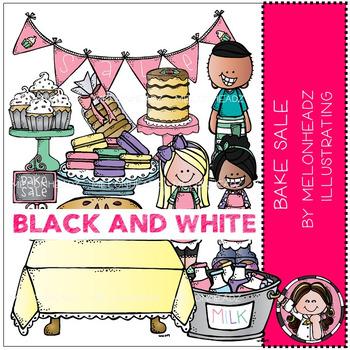 Melonheadz: Bake Sale clip art - BLACK AND WHITE