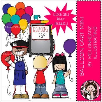 Balloon Cart clip art - Mini - by Melonheadz