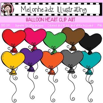 Balloon clip art - Heart - Single Image - by Melonheadz