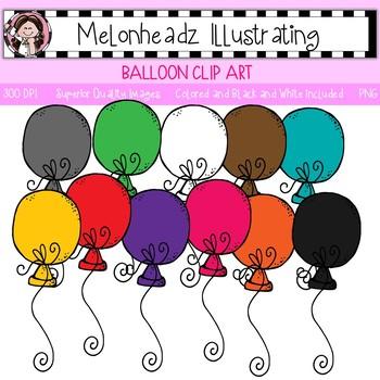 Melonheadz: Balloon clip art - Single Image