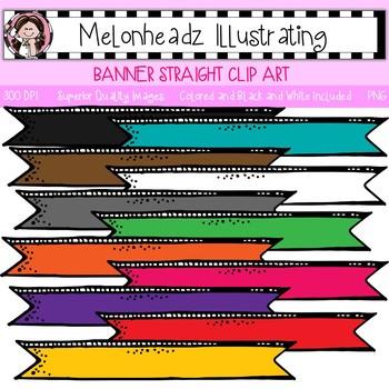 Banner clip art - Straight - Single Image - by Melonheadz